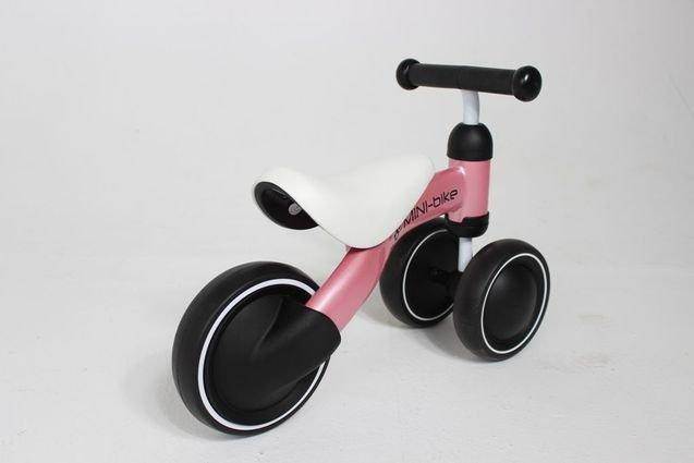 Беговел MIni Bike от 1 года Розовый (резиновые колеса)