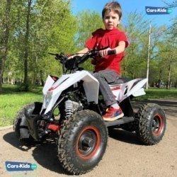 Детский квадроцикл бензиновый Motax GEKKON 70cc  (1+1) бело-красный (пульт контроля, автомат, до 45 км/ч, реверс)