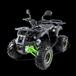 Подростковый квадроцикл бензиновый MOTAX ATV Grizlik Super LUX 125 cc черно-зеленый (электростартер, механика, длинноходная подвеска, до 65 км/ч)