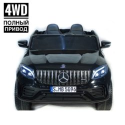 Электромобиль Mercedes-Benz AMG GLC63 2.0 Coupe 4WD черный (двухместный, колеса резина, кресло кожа, пульт, музыка)
