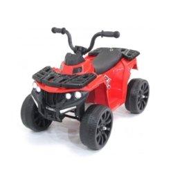 Детский квадроцикл R1 на резиновых колесах 6V - 3201 красный купить (кресло кожа, колеса резина, музыка, свет)