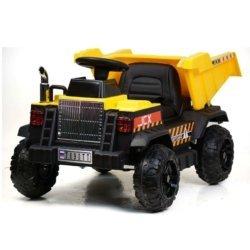 Электромобиль Камаз T090TT желтый (колеса резина, кресло кожа, пульт, музыка)