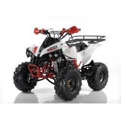 Квадроцикл бензиновый MOTAX ATV Raptor Super LUX 125 сс бело красный (электростартер, механика, до 65 км/ч, подвеска рычажная, шаровая/маятниковая)