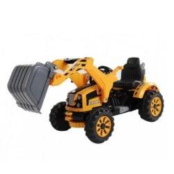 Детский электромобиль трактор на аккумуляторе желтый - JS328B-Y (колеса накладки резина, ковш)