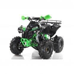 Квадроцикл бензиновый MOTAX ATV Raptor Super LUX 125 сс черно зеленый (электростартер, механика, до 65 км/ч, подвеска рычажная, шаровая/маятниковая)